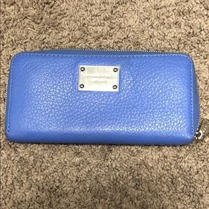 Michael Kors Leather Light Blue Wallet